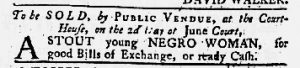 Jun 7 1770 - Maryland Gazette Slavery 1