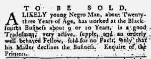 Jun 7 1770 - Maryland Gazette Slavery 2