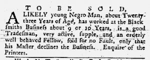 Jul 12 1770 - Maryland Gazette Slavery 5