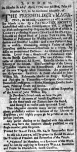 Jul 18 - 7:18:1770 South-Carolina and American General Gazette