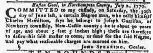 Jul 19 1770 - Pennsylvania Gazette Slavery 3