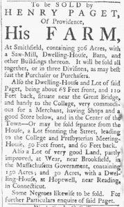 Jul 21 - 7:21:1770 Providence Gazette