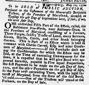 Jul 26 1770 - Maryland Gazette Slavery 3