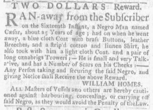 Jul 5 - Massachusetts Gazette and Boston Weekly News-Letter Slavery 3