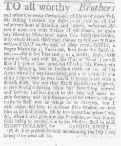 Jul 5 - Massachusetts Gazette and Boston Weekly News-Letter Slavery 4