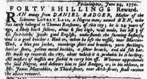 Jul 5 - Pennsylvania Gazette Slavery 2