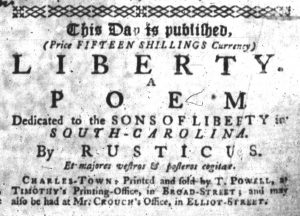 Jul 8 - 7:5:1770 South-Carolina Gazette