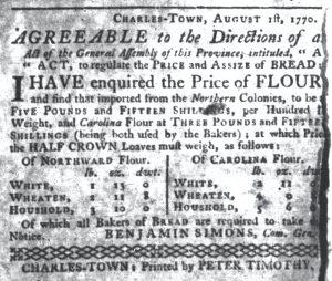 Aug 12 - 8:2:1770 South-Carolina Gazette
