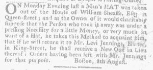 Aug 16 - 8:16:1770 Massachusetts Gazette and Boston Weekly News-Letter