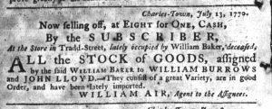 Aug 22 - 8:16:20:1770South-Carolina Gazette Supplement