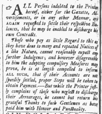 Aug 25 - 8:25:1770 Providence Gazette