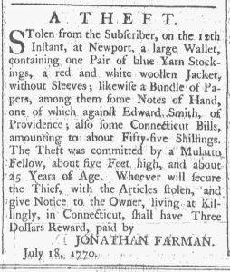 Aug 4 - 8:4:1770 Providence Gazette
