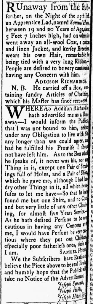 Aug 7 - 8:7:1770 Essex Gazette