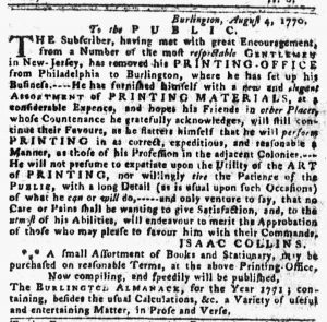 Aug 9 1770 - 8:9:1770 Pennsylvania Gazette