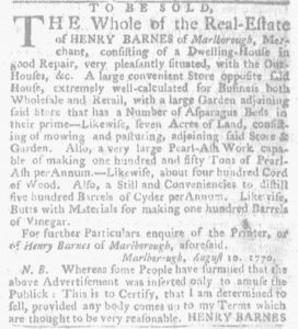 Sep 2 - 8:30:1770 Massachusetts Gazette and Boston Weekly News-Letter
