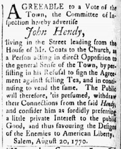 Sep 4 - 9:4:1770 Essex Gazette